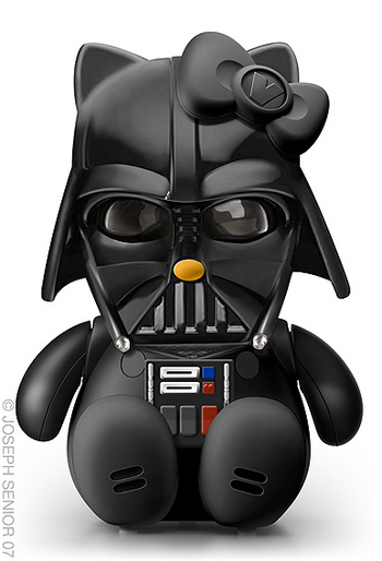 Hello Kitty version of Darth Vader. It's all about the bow LOL