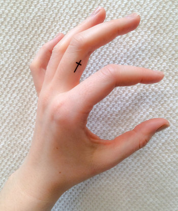 4 Cross Temporary Tattoos SmashTat by SmashTat on Etsy, $5.00