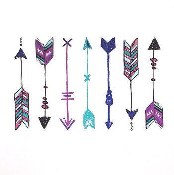 valentine arrow tattoo bohemian arrow temporary by happytatts
