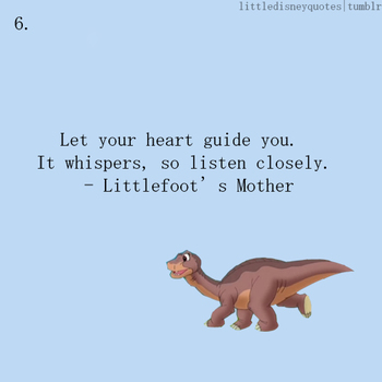 Little Disney Quotes- need this for Oliver's Dinosaur room...