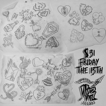 "Native Rituals on Instagram: ""Friday the 13th is around the corner, which means @pawlski will be doing $31 Valentines Day/Friday the 13th tattoos. Here's a sneak peek of…"""