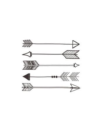 Arrows Print by TwoThirdsHazel on Etsy, $10.00