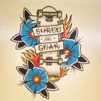 Traditional skateboard tattoo