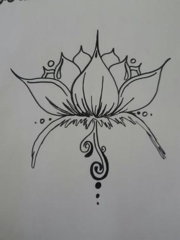 Henna Lotus Design by BurdenArrow on deviantART