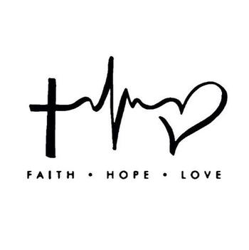 Faith • hope • love tattoo