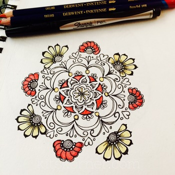 Sketchbook : Mandala With Color