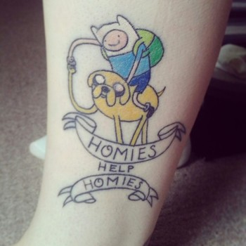 aw i want an adventure time tattoo!