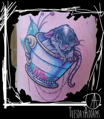 Cute Rat Tattoo
