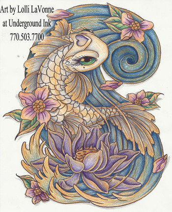Girly koi cb and lotus color by lavonne on deviantART
