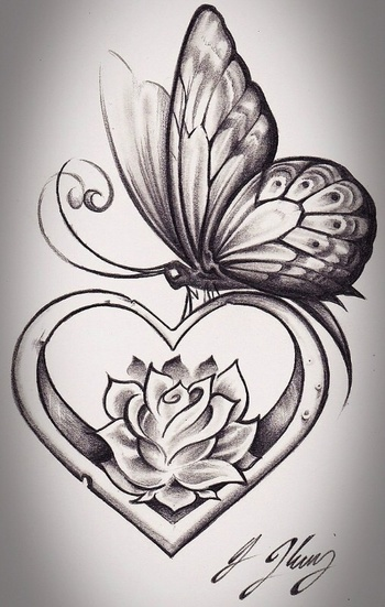 On the inside of my forearm...This one with a Cancer ribbon in the middle of the heart instead of the