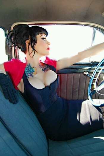 Vintage Auto Classy-in-a-way Pinup!