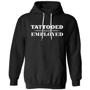 Men's Tattooed and Employed Hoodie by Steadfast Brand