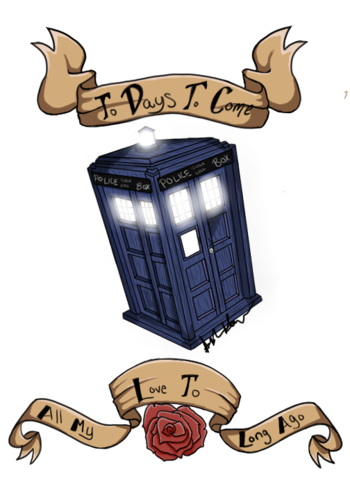 Doctor Who GLOW TARDIS tattoo design~ by xX-StarSetter-Xx