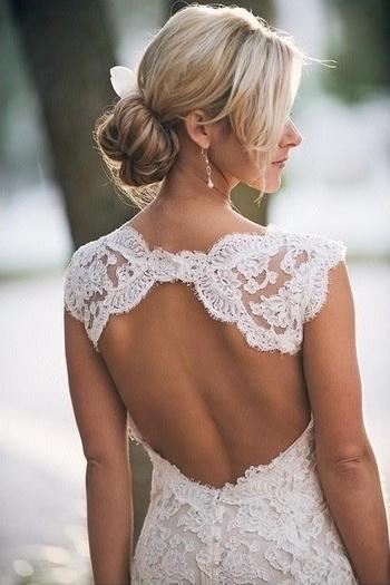 #back lace wedding dress
