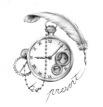 Would make this more personal for a tattoo. Like Rhiley's name, the time he was born on the watch and