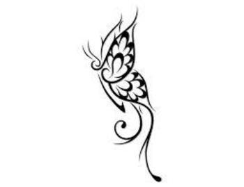tribal butterfly tattoos - Google Search - like this, customise it with little & inside the wings ins