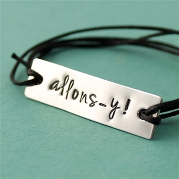 Allons-y! Cotton Cord Bracelet - Spiffing Jewelry