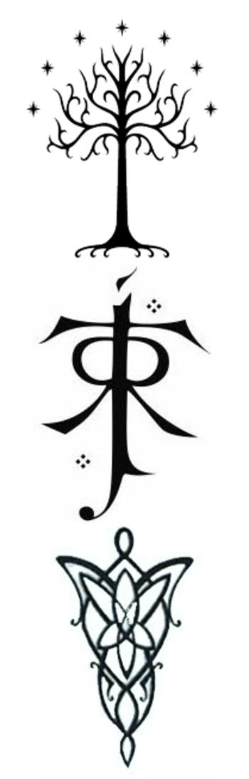 Tree of Gondor, Tolkien symbol, and Evenstar