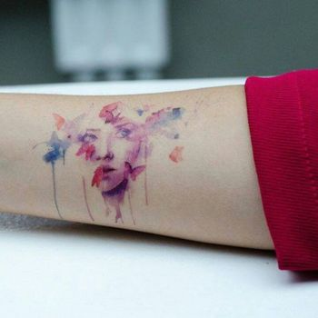 Watercolor Tattoos -- This Would Be Amazing With My Sister's Portrait | See more about water color ta