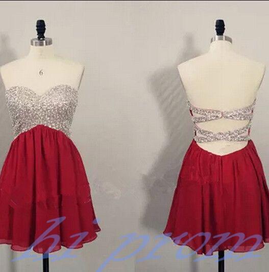 Burgundy homecoming dress chiffon h original