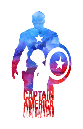 Captain America Art Print by Jon Hernandez | Society6