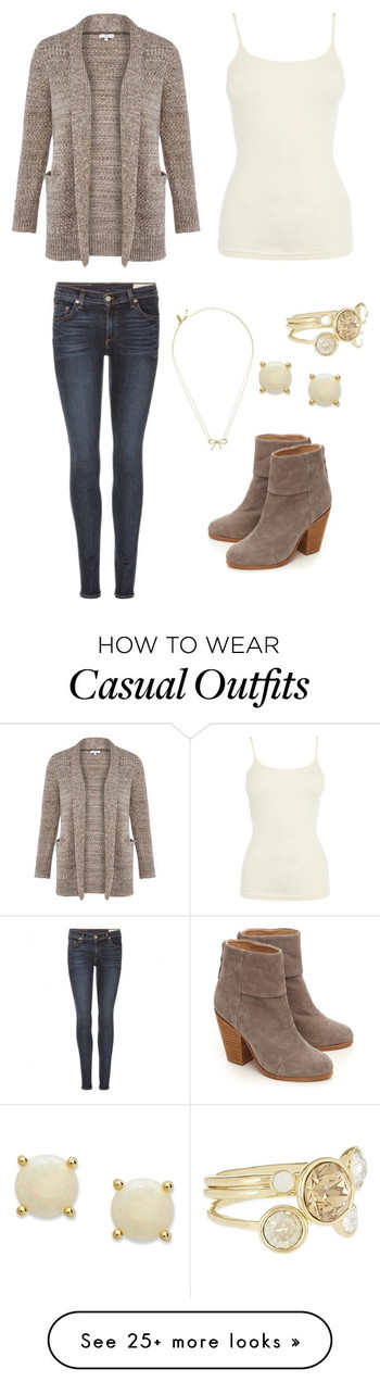 """""""Brown sweater - Casual"""" by brittjade on Polyvore featuring rag & bone, Warehouse, CC, Ted Baker, Vic"""