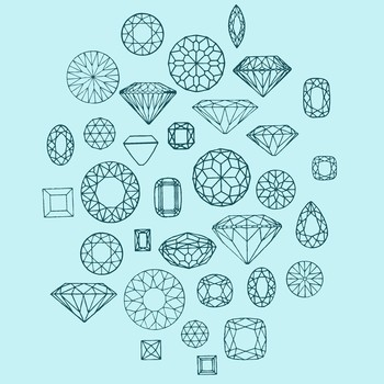 I like this image because it shows lots of different shapes of a diamond which could help me on decid