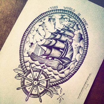 Tattoo Illustrations by Edward Miller