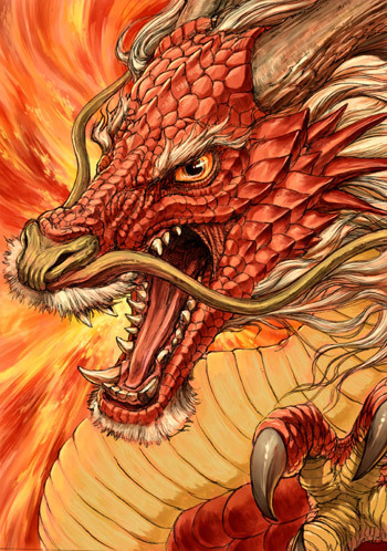 Red Chinese dragon - G.River #NoelitoFlow . Repin & Like and follow here http://www.twitter.com/noeli