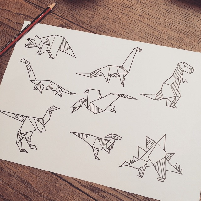 Definitely would love to tattoo these little origami dinosaurs if you re keen contact me via email original