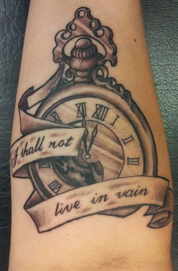 New Ink! Pocket watch tattoo .... I