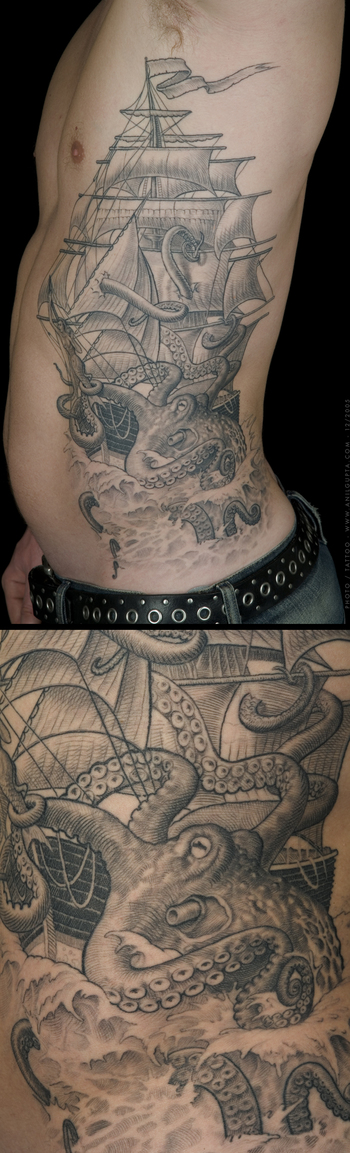 Tatto design of Ship Tattoos | TattooDesignsIdeas.in