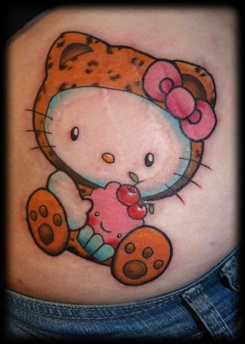 Cute hello kitty tattoo
