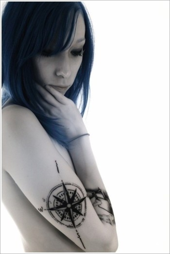 100 Fascinating Compass Tattoo Designs - Part 2