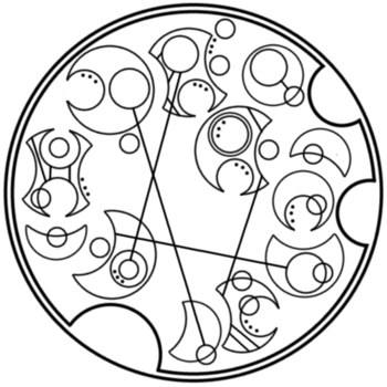 """It does not do to dwell in dreams and forget to live"" written in circular Gallifreyan requested by h"