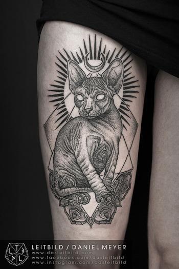FYeahTattoos.com — Sphynx cat byDaniel MeyerviaLEITBILD...