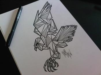 eagle tattoo sketch graphic skull
