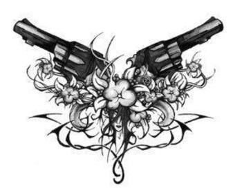 antique colt revolver tattoos | Tattoo5.com