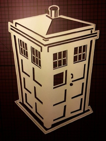 Tardis stencil I made for various arts-n-crafts-y projects.