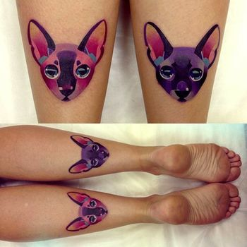 Okay, technically these are not thigh tattoos but UGH so good
