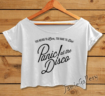 Panic at the Disco shirt women crop top Panic by JamieGallery