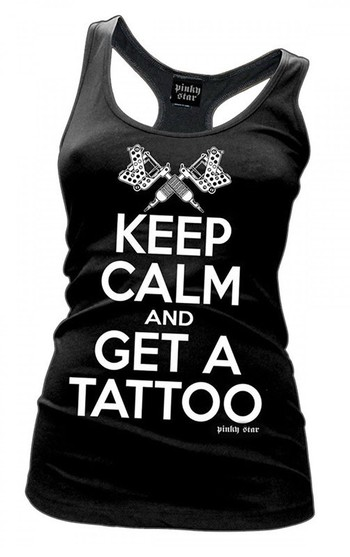 Keep Calm and Get a Tattoo Tank by Cartel Ink