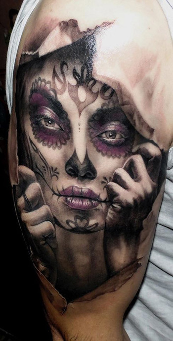3D Day of the Dead | Best tattoo ideas & designs