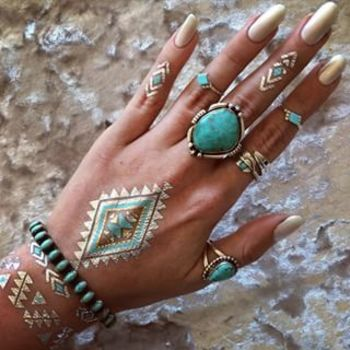 Community Post: 24 Metallic Tattoos That Will Give You Life This Summer