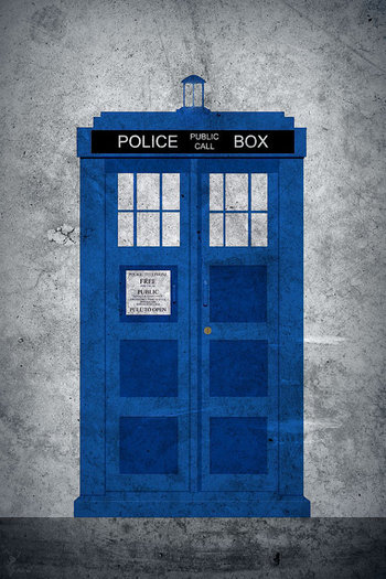 02DRW Dr Who Tardis Minimalist Poster Print by Area71 on Etsy, $13.95