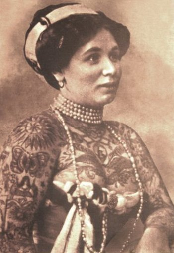 39 Gorgeous Vintage Photos of Tattooed Ladies in the Late 19th to Early 20th Centuries