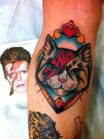 Kitty stardust tattoo cat tattoo