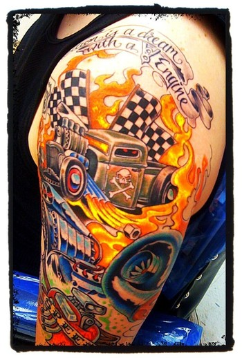 Car Tattoos, Designs And Ideas : Page 6