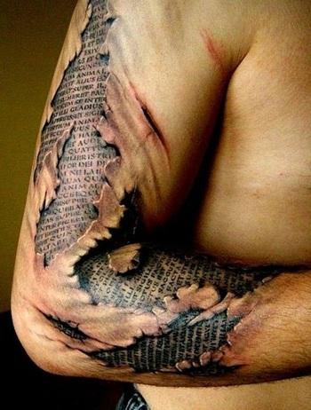 40 Cool And Amazing Ripped Skin Tattoos - Cream Magazine