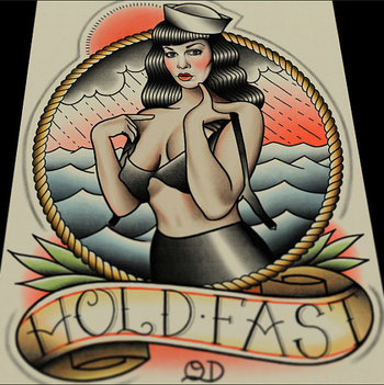 Bettie Page (Hold Fast) Art Print